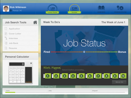 On The Job Coast-to-Coast main work screen